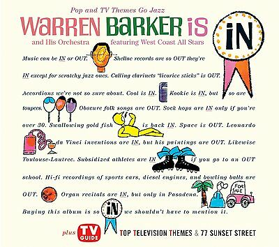 Warren Barker  Pop And Tv Themes Go Jazz  2 Lps On 1 Cd    Bonus Track