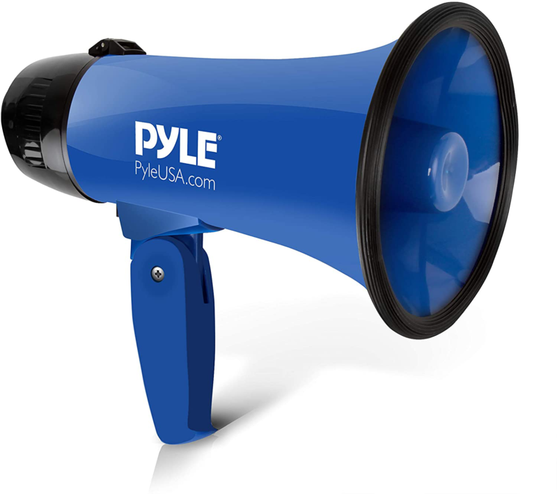 Portable Megaphone Speaker Siren Bullhorn Compact And Batter