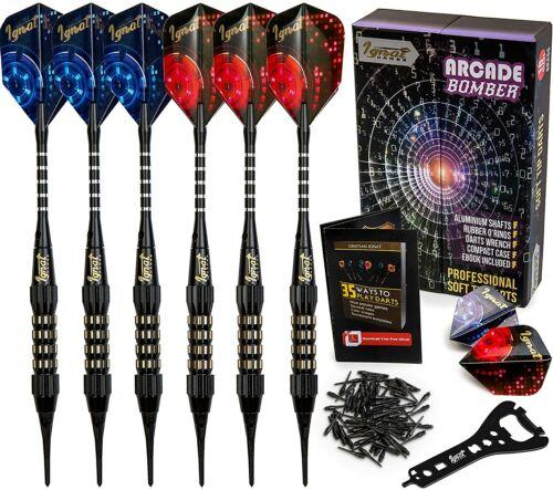 IgnatGames Soft Tip Darts Set - Professional Darts 18g Arcade Bomber