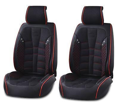 Schwarz Leder & Stoff Vorne Sitzbezüge für Mercedes Gle GLS C S M Klasse AMG
