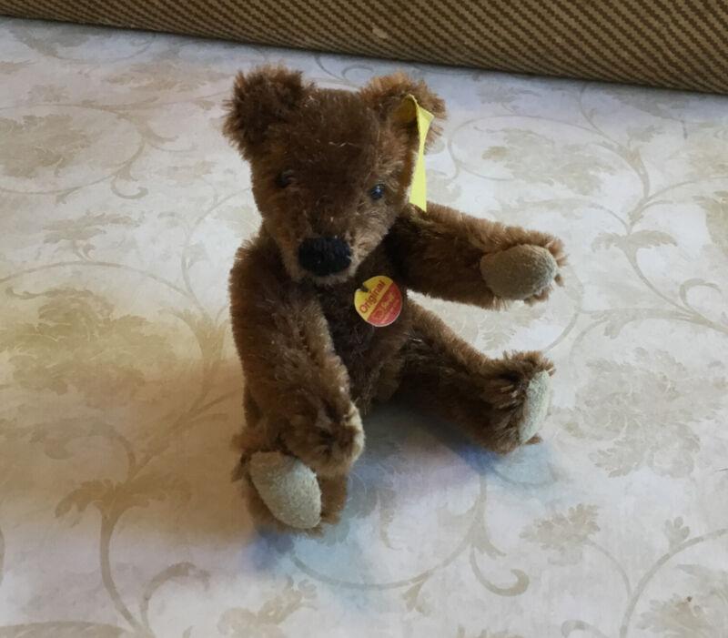 Steiff Stuffed Animal, Mini Teddy Bear, Mohair, Germany, Brown