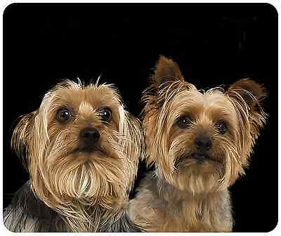 Mouse Pad Custom Thick Dog Mouse Pad - Yorkies - Add Any Text Free