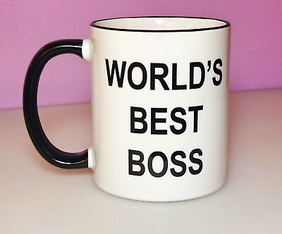 World's Best Boss Mug Funny Office Coffee Cup Office Gift Ideas Coworker
