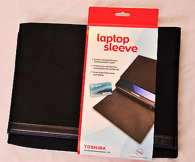Toshiba Laptop Sleeve Black Designed For Toshiba E205 Faux Suede