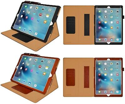 AMZER Quality Leather Shell Portfolio Best Case Stand For Apple iPad Pro