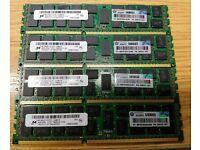 DDR3 PC3L-8500R 4Rx4 ECC Server Memory RAM HP ProLiant DL380 G6 48GB 3x16GB