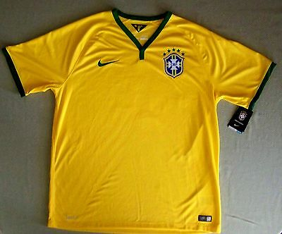 3a04e34a9a9 UPC 887227154842 product image for Nike Drifit Men Brazil Home Stadium  Soccer Jersey L  90