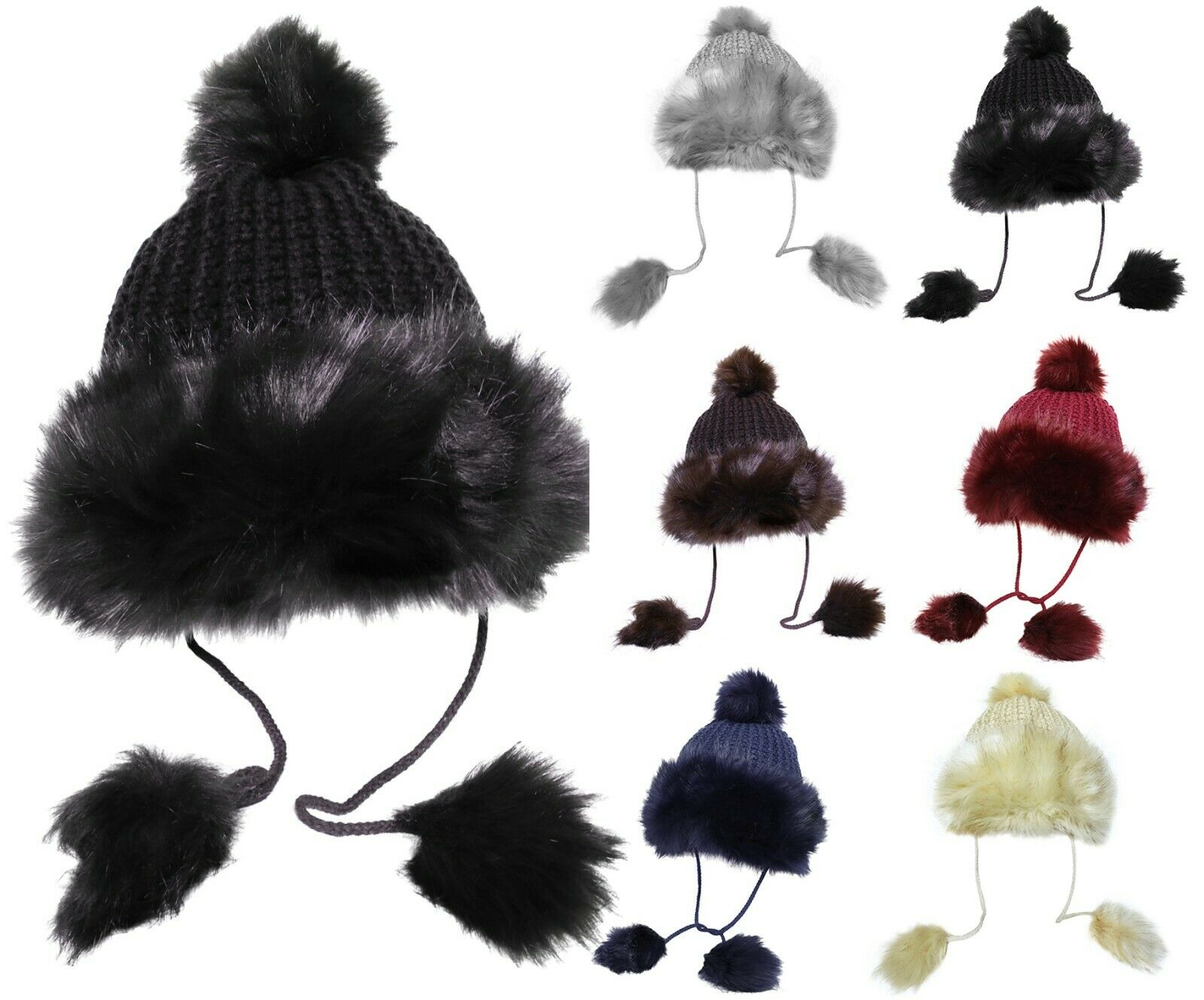 Womens Fashion Faux Fur Thick Cossack Hat Clothing, Shoes & Accessories