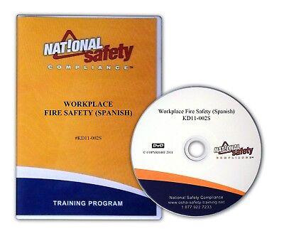 Spanish Workplace Fire Safety DVD  Training Kit  Fire Safety Kit