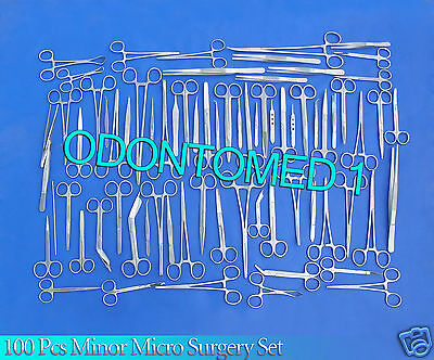 100 Pc Minor Micro Surgery Surgical Dental Veterinary Student Suture Kit Set