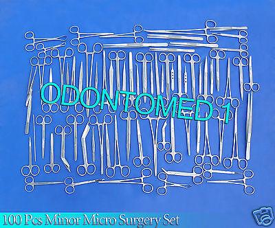 100 Pc Minor Micro Surgery Surgical Dental Veterinary Student Suture Kit Set
