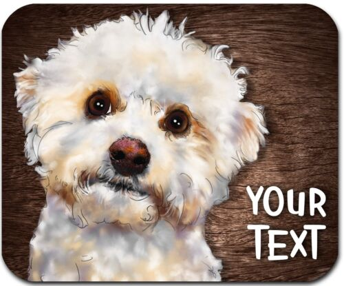 MOUSE PAD PERSONALIZED CUSTOM THICK MOUSEPAD-WATERCOLOR BICHON - FREE SHIPPING