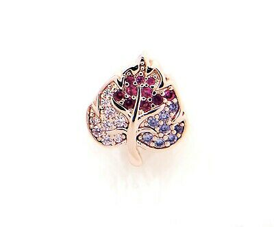 New Authentic Pandora Rose Sparkling Pavé Leaf Rose Gold   788322NPMMX Charm