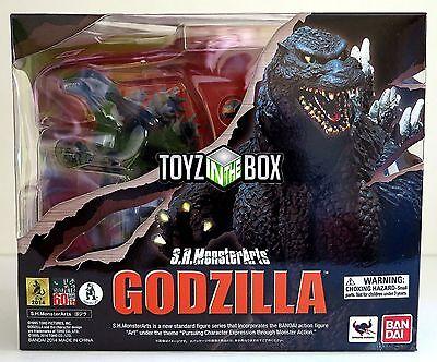 "In STOCK S.H. Monster Arts ""Godzilla"" (1995 Birth vs Destoroyah) Action Figure"