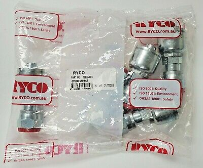 Lot Of 5 New Rayco T280-0813 Hydraulic Orfs Female O Ring Face Seal Fitting