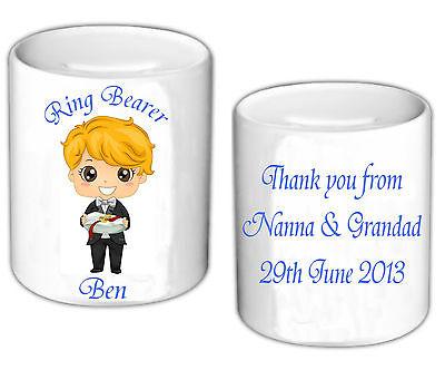 Personalised Money Box Thank You Gift Usher Best Man Page Boy Ring Bearer