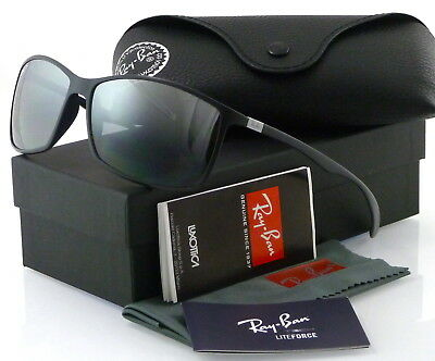 RAY-BAN LITEFORCE RB4179 601S82 62MM MATTE BLACK / POLARIZED SILVER (Rb4179 Polarized)