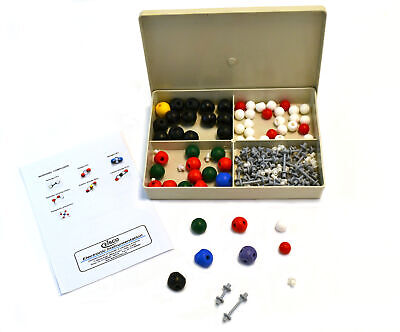 Molecular Model Kit 127 Pcs Inorganic Chemistry Flexible Links - Eisco Labs