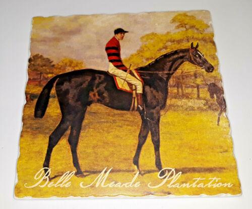 Belle meade plantation Horse Racing thoroughbred stallion Tile Plaque Cork Back