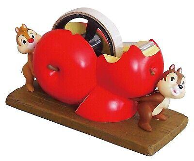 Disney Chip Dale Desk Top Polyresin Tape Dispenser Cutter Room Decor Red Apple