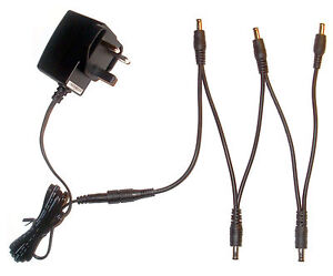 9V EFFECTS PEDAL POWER SUPPLY ADAPTER & 5 WAY DAISY CHAIN FOR BOSS PSA-230ES