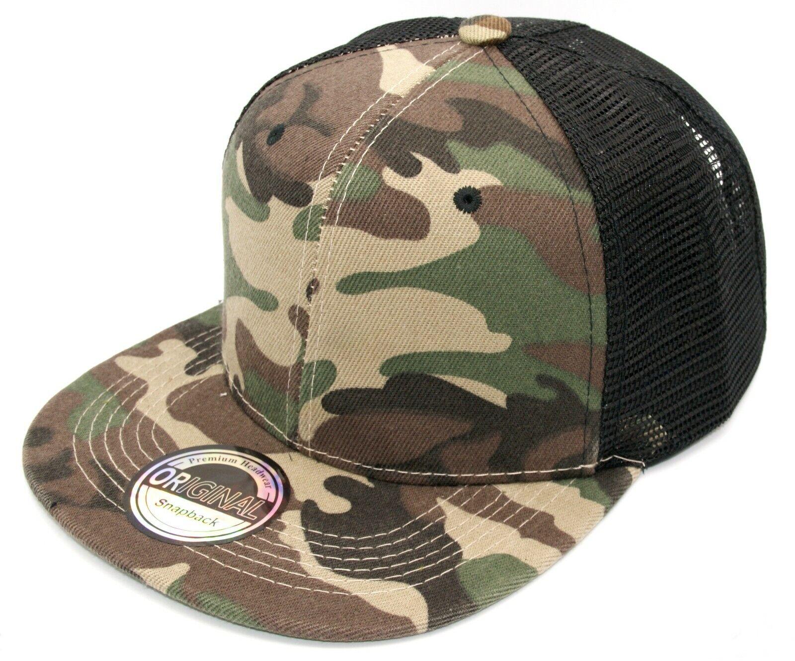 Cappy Herren Damen Cap Basecap Kappe Camouflage Camo Trucker Netz Mesh 54-60cm