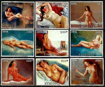 NUDE GIRLS, PRIVATE ISSUE, ETHIOPIA, UNPERF., MNG, YEAR 2016, FULL SET, LOT -