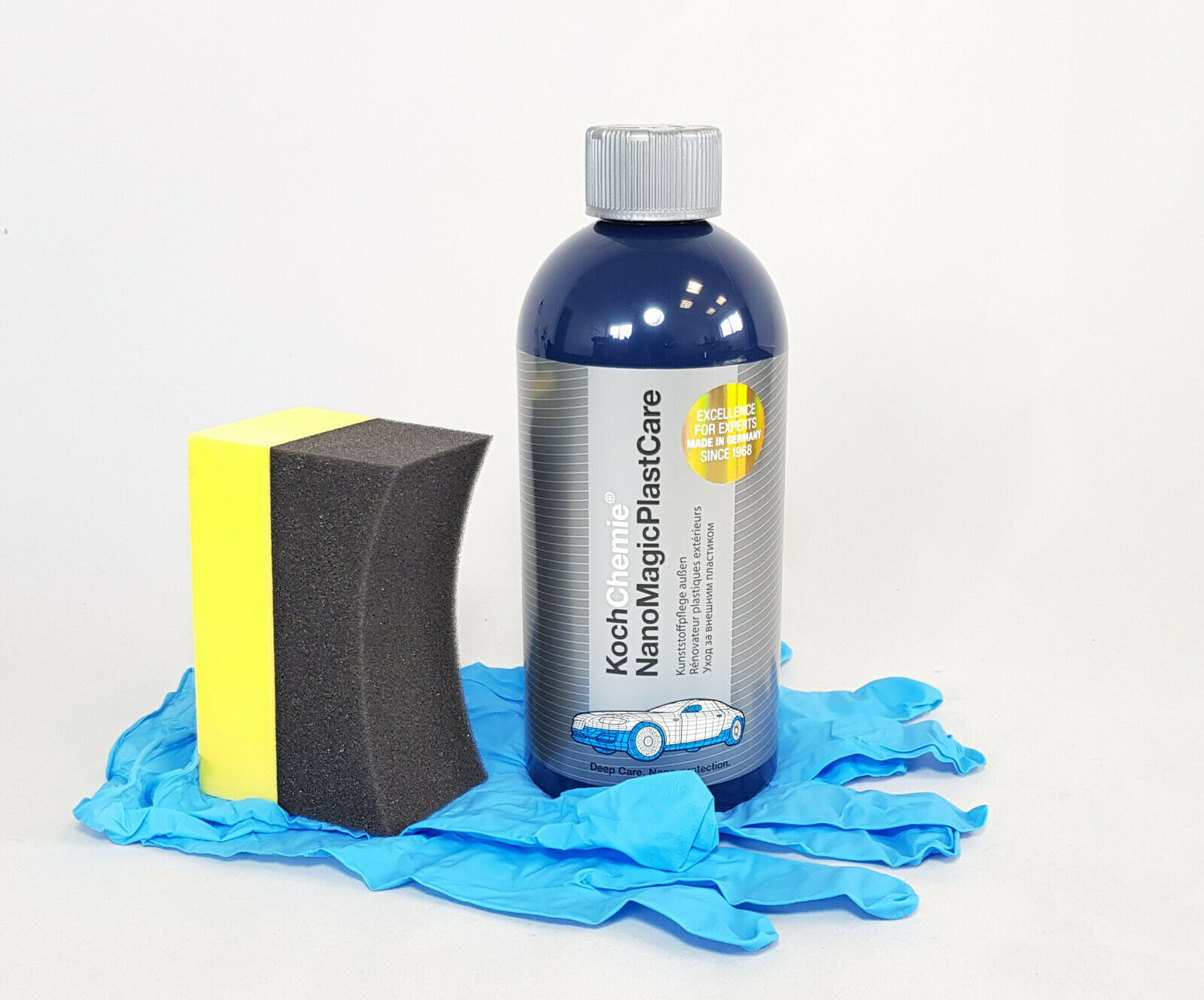 Koch Chemie Nano Magic Plast Care Kunststoffpflege Schwamm, Nitril-Handschuhe