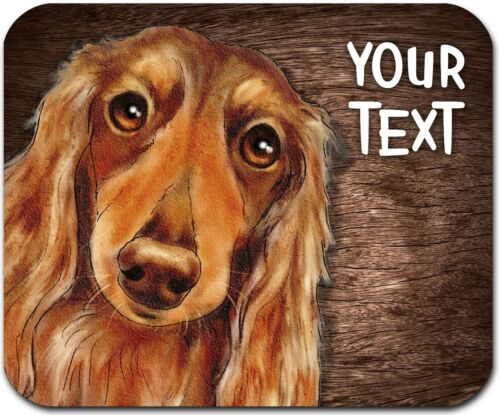 MOUSE PAD PERSONALIZED CUSTOM THICK MOUSEPAD-WATERCOLOR DACHSHUND-FREE SHIPPING