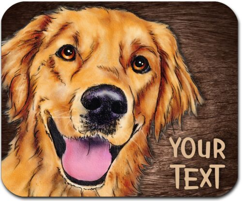 MOUSE PAD PERSONALIZED CUSTOM THICK MOUSEPAD-WATERCOLOR RETRIEVER-FREE SHIPPING