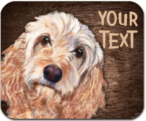 MOUSE PAD PERSONALIZED CUSTOM THICK MOUSEPAD-WATERCOLOR COCKAPOO-FREE SHIPPING