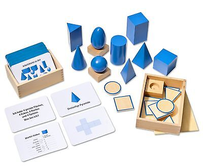 Jetzt Geometrie verstehen mit 100 Arbeitskarten, Montessori Material Freiarbeit