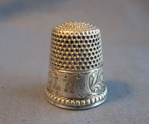 """Antique Sterlng Silver Ketcham & McDougall Thimble """"Lily-of-the-Valley"""""""