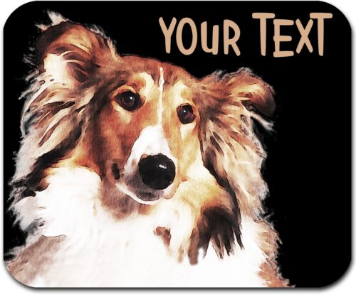 MOUSE PAD PERSONALIZED CUSTOM THICK MOUSEPAD-WATERCOLOR COLLIE-FREE SHIPPING