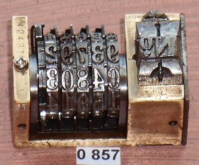 Vintage Letterpress Numbering Machine Wetter 25 5digits