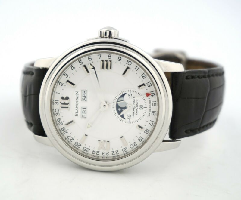 BLANCPAIN LEMAN MOONPHASE COMPLETE CALENDAR 2763-1127A-53B WATCH - watch picture 1