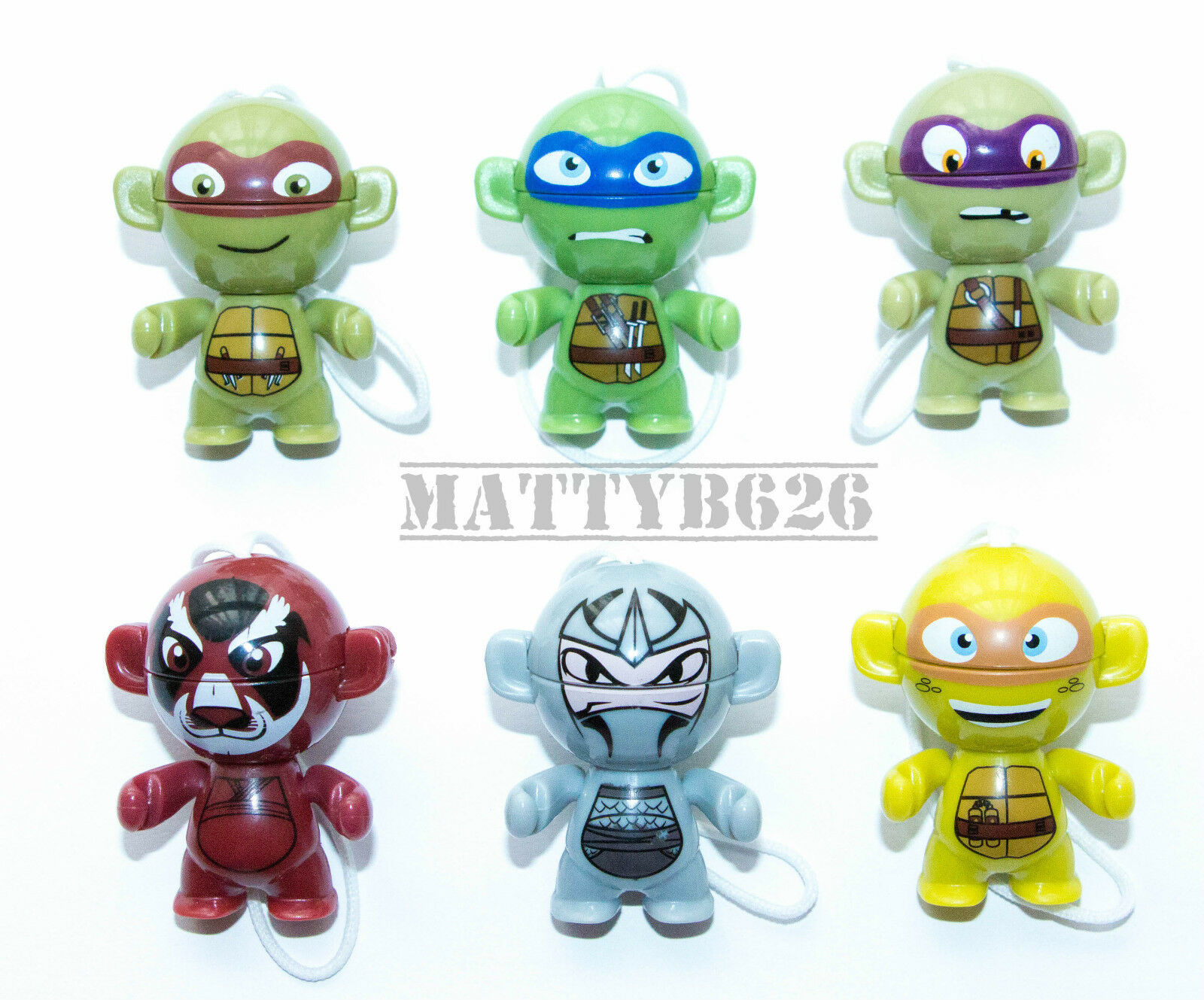 Kinder Surprise Teenage Mutant Ninja Hero Turtles TMNT Twisthead Figures 2016 UK