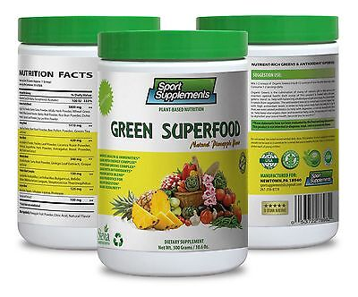 Soy Lecithin Powder   Green Superfood Pineapple 10 6Oz   Diuretic Properties  1C