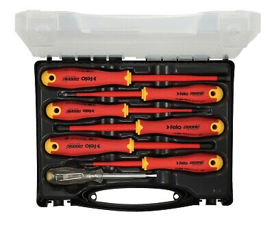 Felo 7pcs. E-slim Screwdriver Set For Electricians Vde Ac1000v Made In Germany