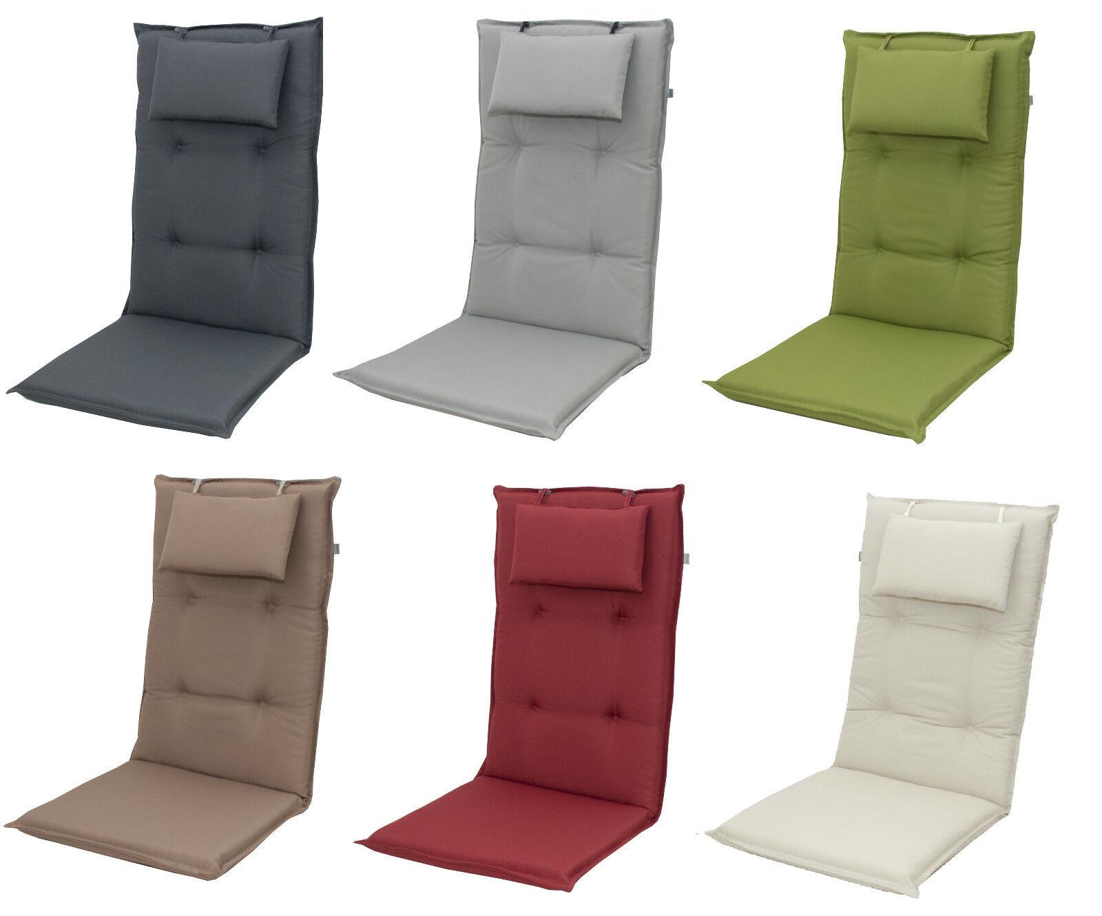 Doppler Gartenmöbel Auflagen uni für Hochlehner Kissen Sitzkissen Gartenstuhl