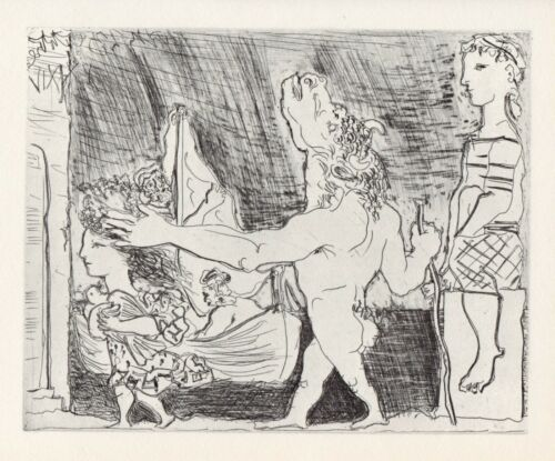 Pablo Picasso, Blind Minotaur Guided in the Night by a Little Girl with a Pigeon