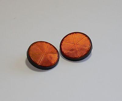 2) Orange Reflectors For Motorcycles, ATV, Bikes And Dirt Bikes. USA Seller!!