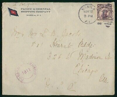 Mayfairstamps Philipppines 1918 Pacific and Oriental Shipping Manila Magellan Co