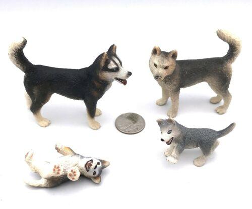 Schleich HUSKY FAMILY Retired Dog Figures 16371 16372 16373 16374 Male Female Pu