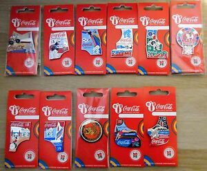 LONDON 2012 OLYMPICS PARALYMPICS COCA COLA DAY OF THE GAMES 11 PIN BADGES