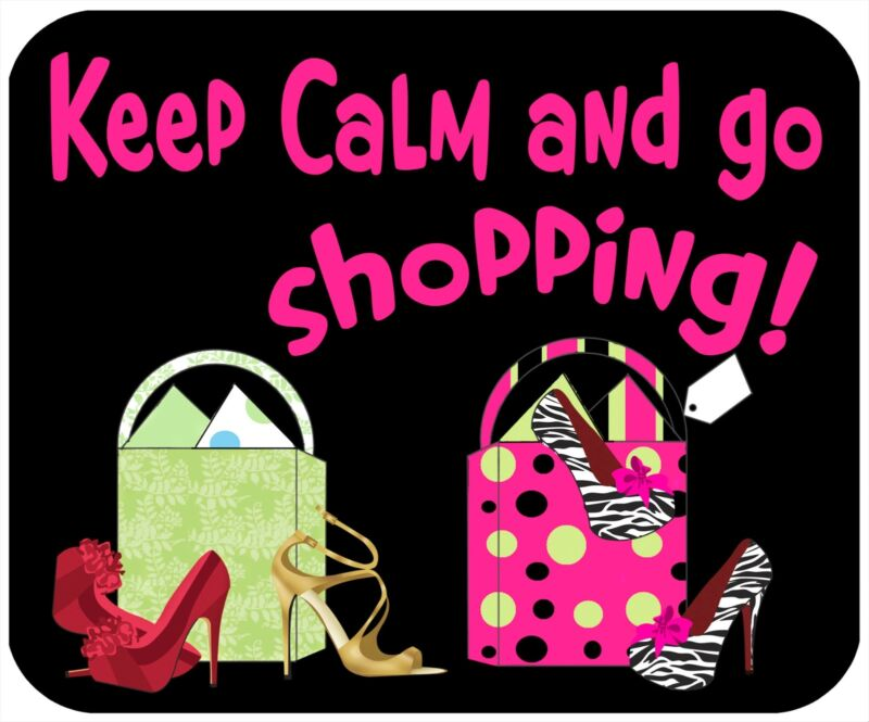 MOUSE PAD, THICK MOUSEPAD-KEEP CALM, GO SHOPPING