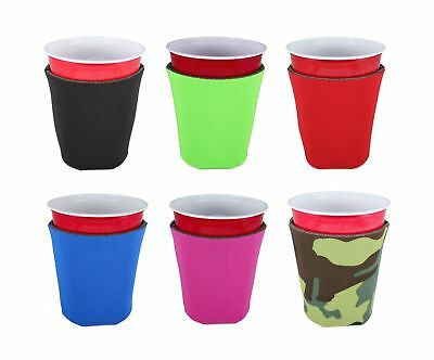 Blank Foam Collapsible Bottom Solo Cup Coolie 6, Various