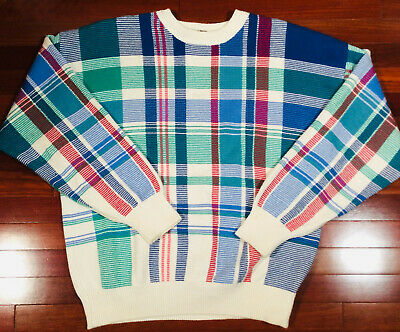 Vintage 1990s Nautica Mulit-Color Pullover Sweater Hip Hop Wear Size Large