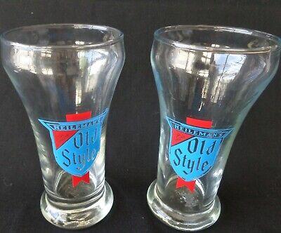 2 Heilmans Old Style Beer Glass Pilsner 7 Ounce Libbey Vintage Old Style Pilsner