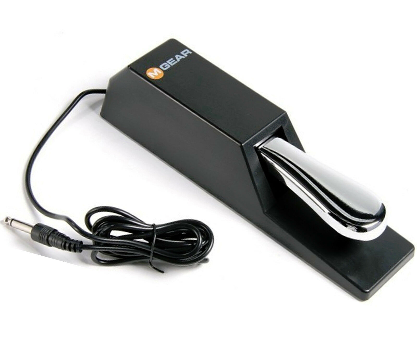 Pro Heavy Duty Chrome Sustain Foot Pedal for Portable Electr